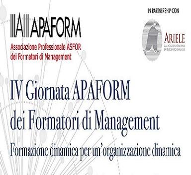 Immagine Il 15 dicembre appuntamento con la IV Giornata APAFORM dei Formatori di Management